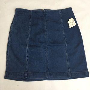 FREE PEOPLE denim mini skirt size 10